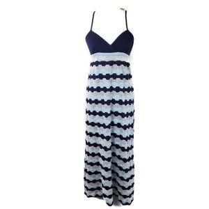 Anthropologie Blue Tone Teaxtured Maxi Dress